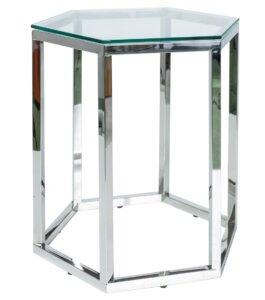 Szklany stolik pomocniczy w kształcie sześcianu conti (1 szt.)