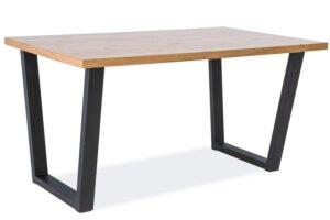 Stół do jadalni na metalowych płozach valnetino 120×80 cm w stylu industrialnym