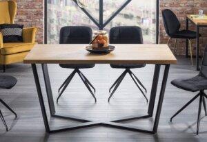 Industrialny stół nierozkładany marcello 180×90 cm