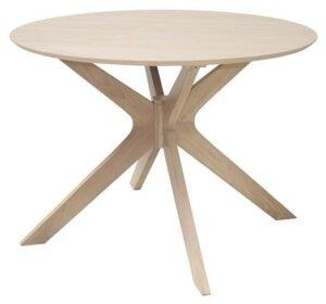 Designerski stół z okrągłym blatem fornirowanym duncan