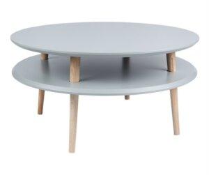Stolik na drewnianych nogach ufo low 35