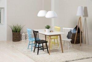 Krzesło z drewnianym oparciem riano