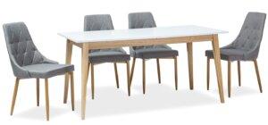 Skandynawski stół z rozkładanym blatem cesar 160-205×80 cm