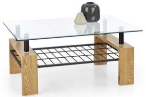 Designerska ława pokojowa z blatem ze szkła estella