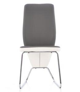 Krzesło z ekoskóry na chromowanych płozach k299