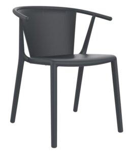Krzesło do kawiarni z tworzywa steely