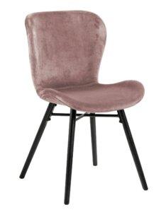 Krzesło do jadalni na czarnych nóżkach batilda vic