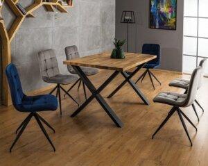 Stół xaviero ii 150/90 w stylu industrialnym