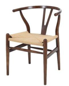 Drewniane krzesło do jadalni wishbone