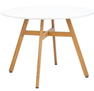 Skandynawski stół jadalniany z białym blatem flat 100