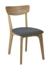 Drewniane krzesło z tapicerowanym siedziskiem taxi