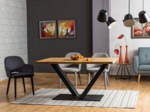 Nierozkładany stół do jadalni w stylu industrialnym vector 150/90
