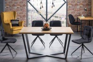 Nierozkładany stół w stylu industrialnym marcello 150×90 cm