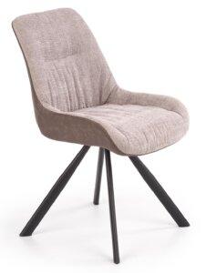 Tapicerowane krzesło na skośnych nogach k393