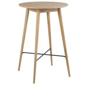 Okrągły stół barowy na drewnianych nogach nagano