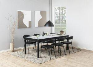 Czarne krzesło z ekoskóry ava