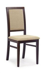 Klasyczne krzesło drewniane sylwek 1 ciemny orzech