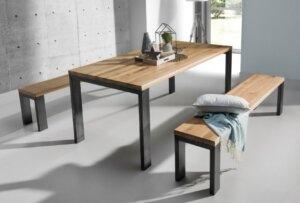 Stół na stalowych nogach mauro