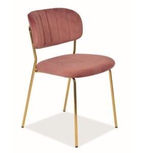 Aksamitne krzesło bez podłokietników carlo velvet