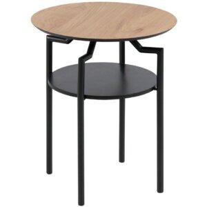 Loftowy stolik pomocniczy z półką goldington
