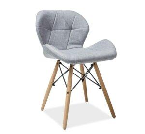 Pikowane krzesło tapicerowane tkaniną matias ii