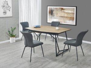 Tapicerowane krzesło na metalowych nogach k341