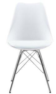 Krzesło z poduszką na metalowej podstawie eris pp