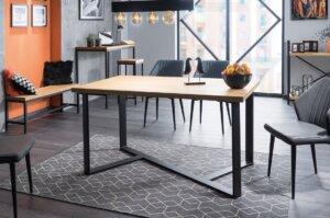 Stół jadalniany w stylu industrialnym bernardo 180×90 czarny