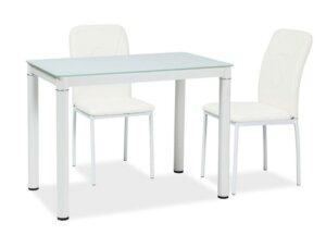 Nierozkładany stół ze szklanym blatem galant 100×60