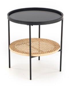 Rattanowy stolik pomocniczy z okrągłym blatem kampa