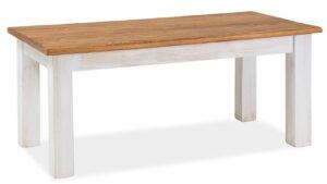 Ława salonowa w stylu rustykalnym poprad brąz miodowy/sosna patyna