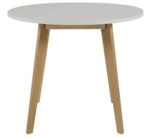 Skandynawski stół z okrągłym blatem na drewnianych nogach raven