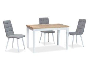 Nierozkładany stół jadalniany na białych nogach adam 100×60 cm