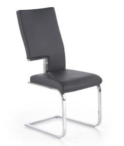 Krzesło na płozach tapicerowane ekoskórą k294