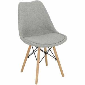 Krzesło tapicerowane tkaniną norden dsw w stylu skandynawskim