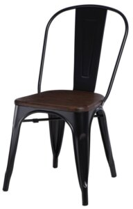 Krzesło paris wood sosna szczotkowana orzech insp. tolix