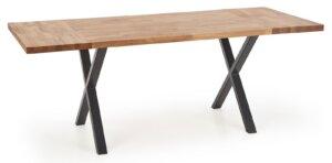 Stół do jadalni z blatem z litego drewna apex 160/90
