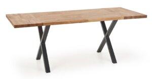 Stół do jadalni z drewnianym blatem apex 140/85