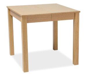 Kwadratowy stół do jadalni eldo w kolorze dębowym