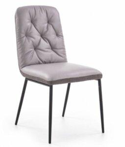 Krzesło do jadalni bez podłokietników k340 szare