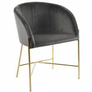 Designerskie krzesło na złotej podstawie nelson
