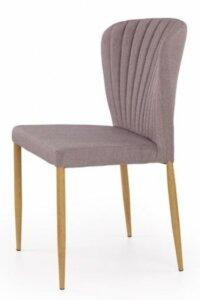 Tapicerowane krzesło na metalowych nogach k236