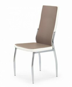 Krzesło do jadalni z chromowanym stelażem k210