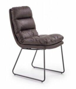 Krzesło z ekoskóry na metalowych nogach k320