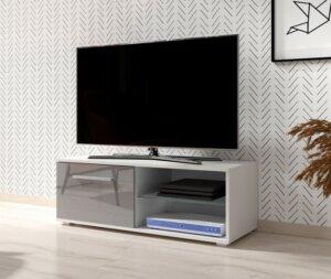 Minimalistyczna szafka pod telewizor simple biały/beton