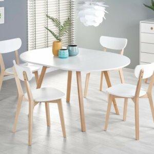 Skandynawski stół z okrągłym blatem ruben