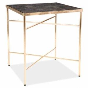 Kwadratowy stolik cali w stylu glamour