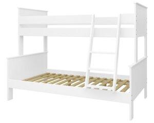 Piętrowe łóżko w kolorze białym alba 90/120/200