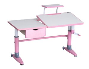 Regulowane biurko dziecięce z pochylanym blatem ferrara