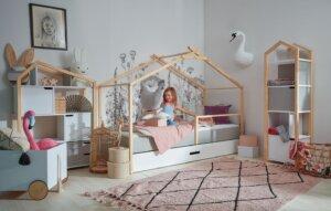 Łóżko dziecięce z szufladą teepee 90×200